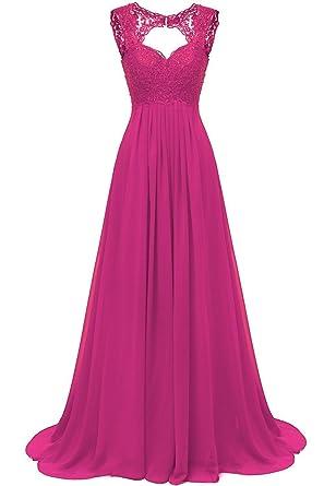 ccecae98fcc Carnivalprom Damen Chiffon Abendkleider Für Hochzeit Elegant Spitze  Brautjungfer Kleider Lang Ballkleider  Amazon.de  Bekleidung