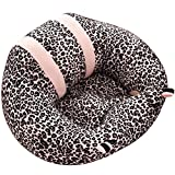 Lightclub Infant Nursing Pillow Baby Suppor Seat Chair Feeding Safety Plush Toy (Leopard)