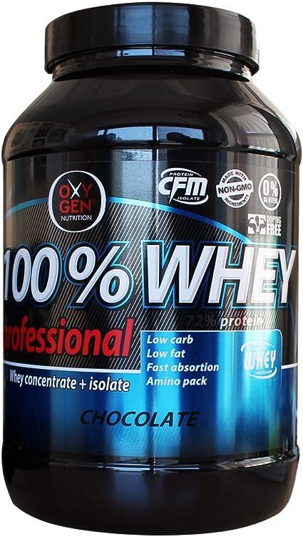 OXYGEN 100% WHEY PROFESSIONAL 1 KG Cioccolato: Amazon.es ...