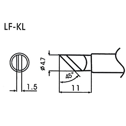 AOYUE WQ/LF-KL Puntas soldadura sin plomo 1.5mm 45°Ø