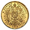 1912 AT Austria Gold 10 Coronas AU (Restrikes) Gold About Uncirculated