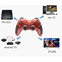 Tec Tavakkal® 6 in 1 2.4G Wireless Technology Gamepad/Game Controller for PC/PS1/PS2/PS3/PC360/Android TV/TV Box/PC/Tablet