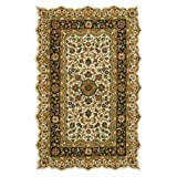 Masterpiece I Area Rug, 6'x9′, BEIGE BLACK