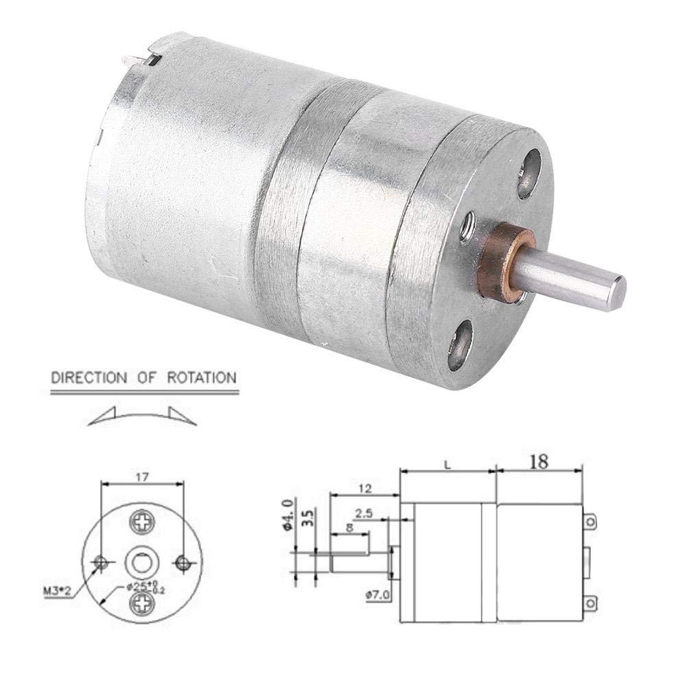PBZYDU Mini DC Metal Gear Box Replacement Motor for Smart Home Appliance 100RPM 12V Large Torsion