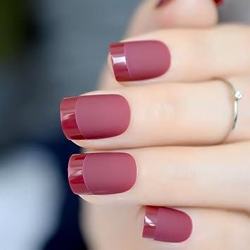 Amazon.com: Juego de 24 uñas cortas para decoración de uñas ...