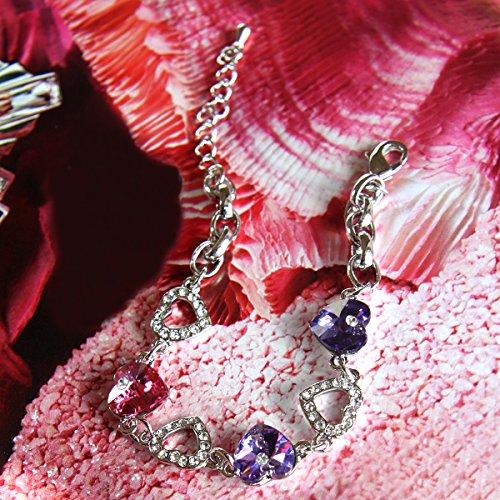 e187e0cf0cc4 Le Premium Pulseras con charms con cristales de swarovski morados ...