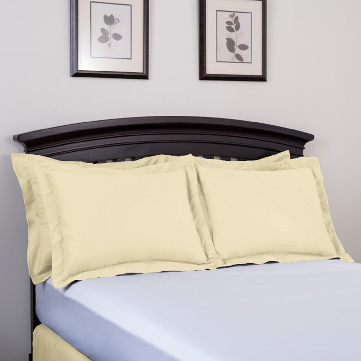 Standard White Sham Harmony Lane Classic Tailored Pillow Sham Available in 16 Colors