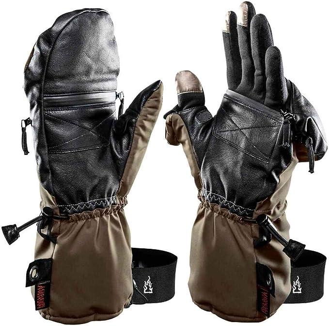 K /& S The Heat Company Handw/ärmer Handschuhe Heat 3 Special Force Fingerhandschuh und F/äustling Wasserdicht Atmungsaktiv Primaloft Gold mit Echt Ziegenleder