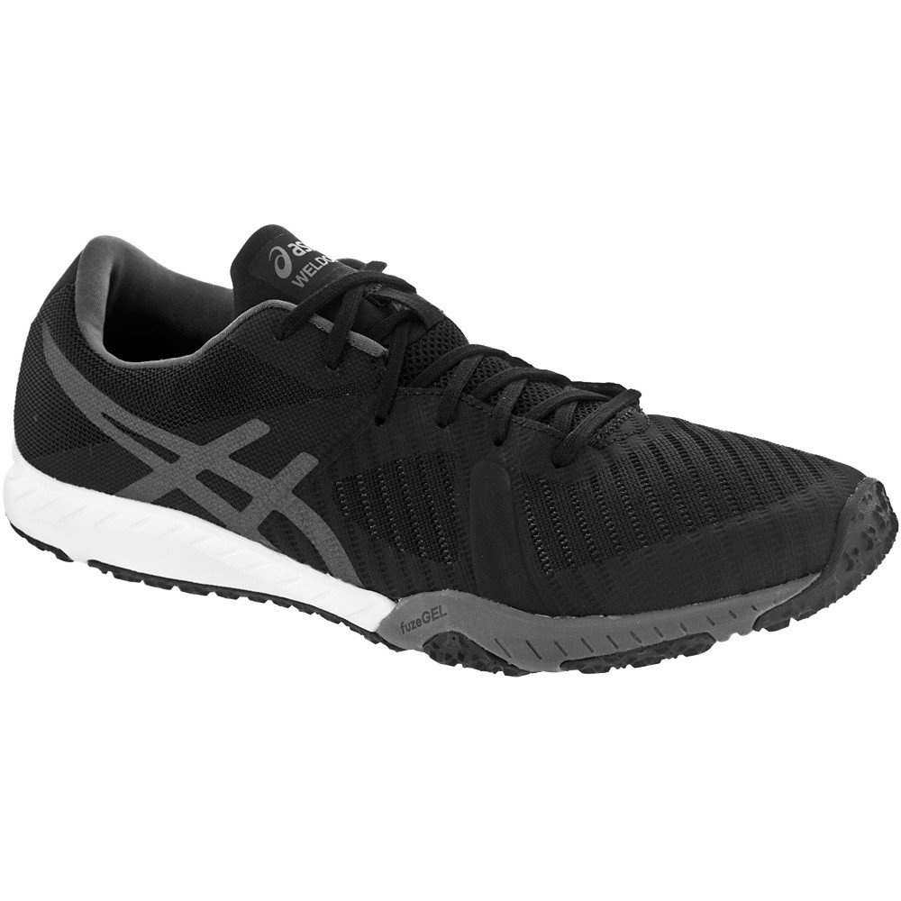 ASICS Womens Weldon x Fabric Low Top Lace Up, Black/Carbon/White, Size 10.0