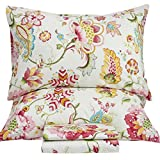 Queen's House Sheets Boho Lotus Print Bed Sheet Sets Queen Size-G