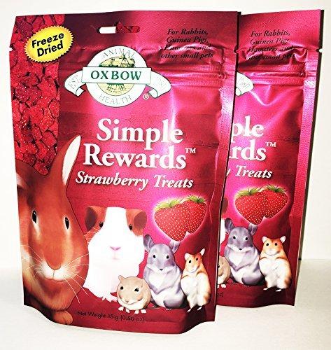 2 Pack Oxbow SIMPLE REWARDS STRAWBERRY Small Animal Treat (2 / 0.5 oz)