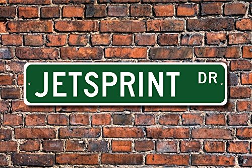 Boat Racing Sprint (CELYCASY Jetsprint Jetsprint Sign Jetsprint Fan Jetsprint Participant Jetsprint Gift Sprint Boat Racing Custom Street Sign Quality Metal Sign)
