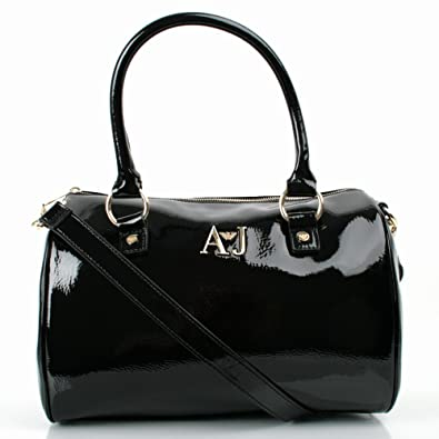 1ff7d0af1c Armani Jeans Black Patent S5216A5112 Womens Shoulder Bag Black Patent