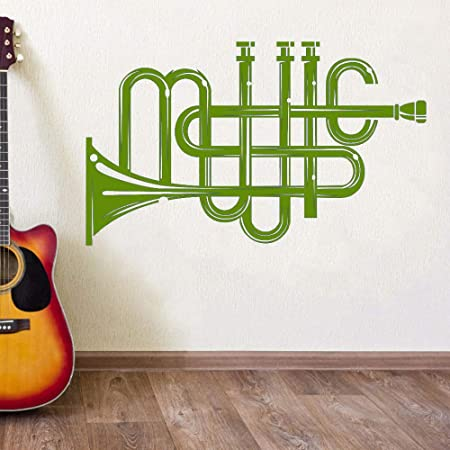xingbuxin Vinilo Tatuajes de Pared Instrumento Musical Patrón ...