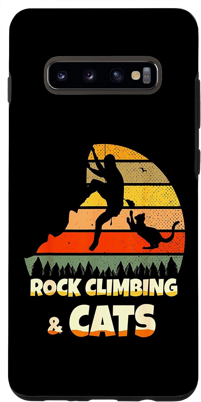 Galaxy S10+ Rock Party Climbing Decor Rock Climbing Cats Case