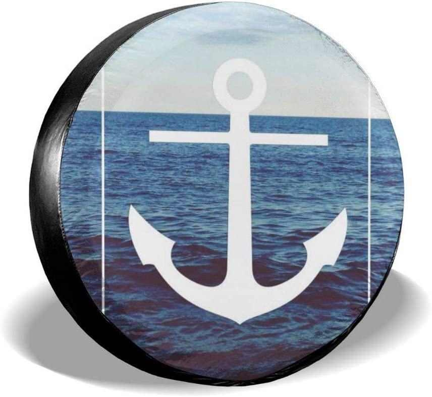 15 for Diameter 27-29 Godfery Barton Spare Tire Cover Waterproof Dust-Proof Universal Spare Wheel Anchor Ocean Poster Tire Cover Fit for Jeep,Trailer Rv SUV and Many Vehicle