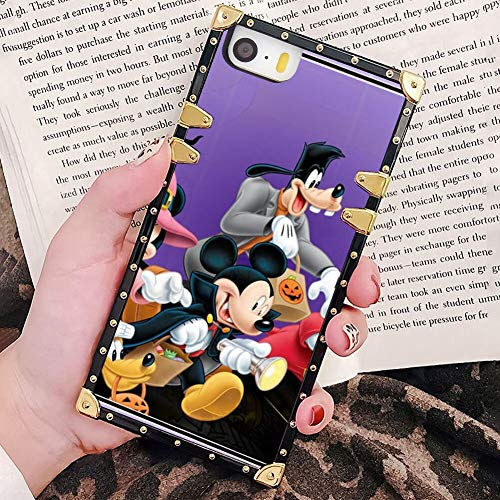 Iphone 5 Halloween Wallpapers (DISNEY COLLECTION Phone Case Fit for Apple iPhone SE & 5 & 5S (5.5-Inch) Halloween Mickey Mouse and Minnie Mouse Goofy Donald Duck Pluto Disney Halloween)