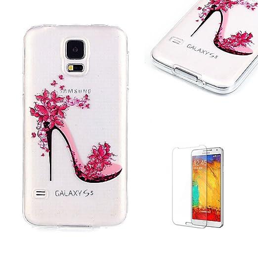 6 opinioni per Cover Per Samsung Galaxy S5 Silicone Custodia Morbida Trasparente con Disegno