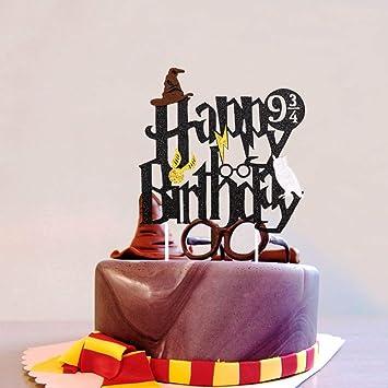 Levfla - Decoración para Tarta de cumpleaños, diseño de Harry ...