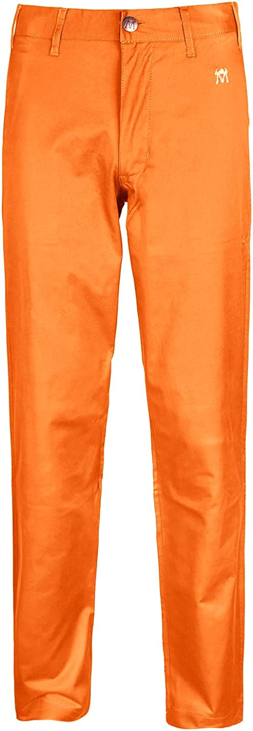 Men's Golf Pants Stretch Relaxed Fit Tailored Flat Front Tech Performance Classic Chino Pants