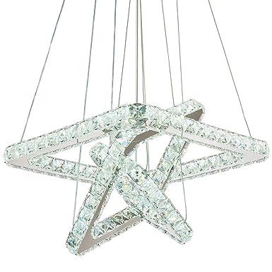 Modern Crystal Chandeliers LED Chandelier Pendant Lights Chandelier Rings Pendant Light Cool Square20 30 40