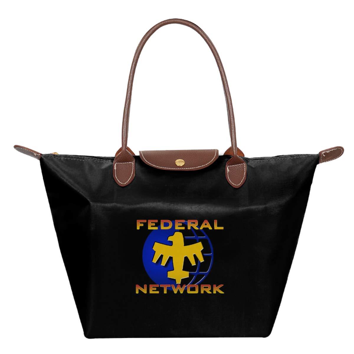 Starship Troopers Federal Network Gold Blue Logo Waterproof Leather Folded Messenger Nylon Bag Travel Tote Hopping Folding School Handbags