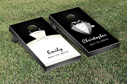 Victory Tailgate Standard Tux and Dress Wedding Cornhole Game Set by Victory Tailgate