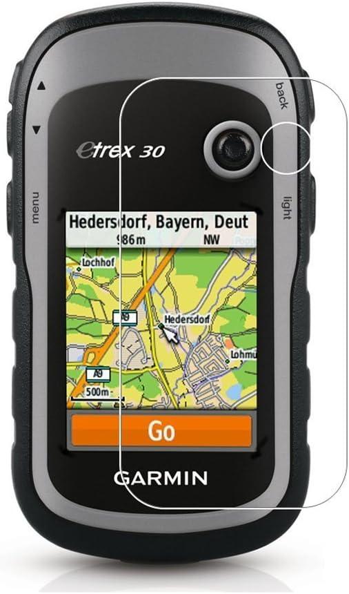 3 Pack) Garmin eTrex 30/20/10 Protector de pantalla, ultrafina Explosion anti-scratch cobertura total HD Clear Protector de pantalla para Garmin eTrex 10/20/30: Amazon.es: Electrónica
