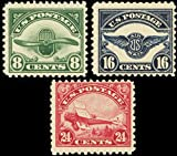 Second Three Airmail Stamps Issued By The United States Mint Never Been Hinged Scott C4-6 By USPS