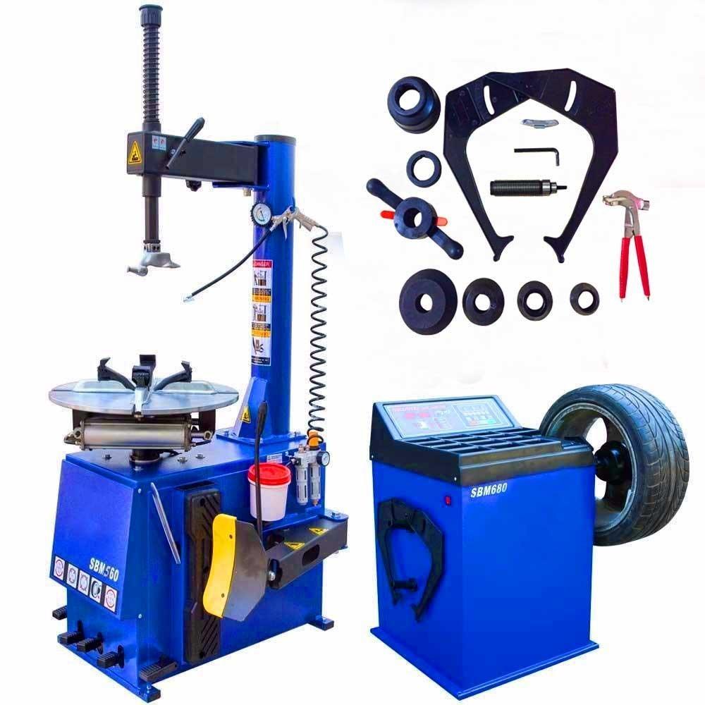 1.5 HP Tire Machine Tire Changer Wheel Changers Machine Balancer Rim Clamp Combo 560-680 12''-21'' / 12 Month Warranty