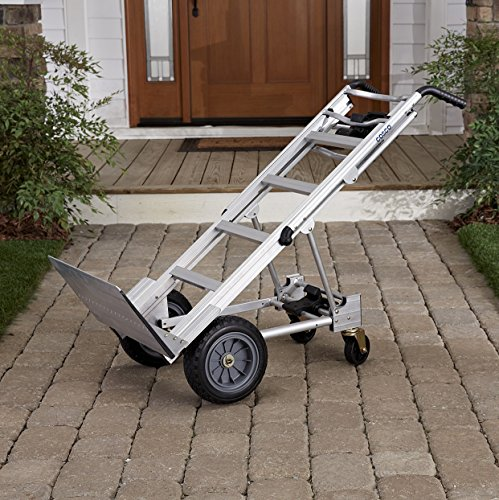 Cosco 3-in-1 Aluminum Hand Truck/Assisted Hand Truck/Cart w/ flat free wheels by Cosco (Image #2)