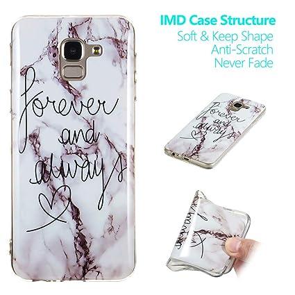 newest ecc00 51168 Amazon.com: Galaxy J6 Plus Case,J6 Plus Marble Case,XYX Slim Soft ...