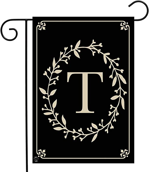 "Briarwood Lane Classic Monogram Letter T Garden Flag Everyday 12.5"" x 18"""