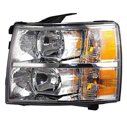 Headlight Headlamp Lens Driver Replacement for 07-13 Chevrolet Silverado Pickup Truck ()