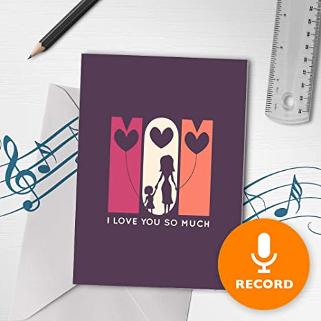 Amazon.com: Tarjeta para el día de la madre, tarjeta musical ...