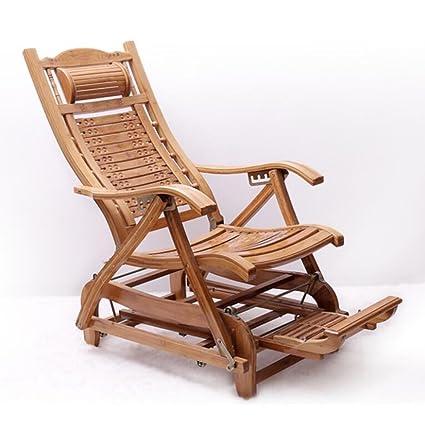 GJM Comprar Lounge Chair - Bambú Mecedora Adulto Balcón ...