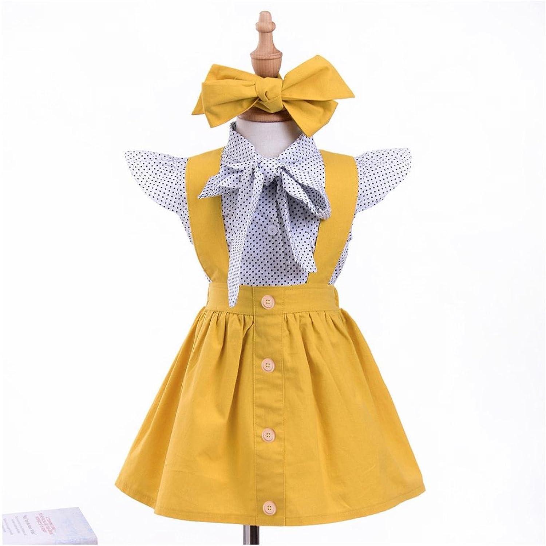 ❤ Conjunto de Falda Para Niñas, 3 Piezas Bebé Niño Bebés Niñas Punto Tops Camiseta Camiseta Falda Trajes Conjunto Absolute: Amazon.es: Ropa y accesorios
