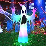 MAOYUE Halloween Inflatables Ghost, 8 ft. LED Ghost Inflatables for Halloween Decorations Indoor/Outdoor Yard Garden Includes Stakes and Tethers