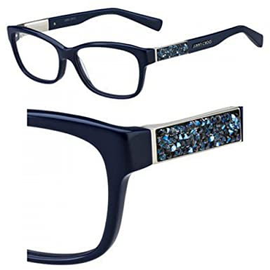 62d01aee77d JIMMY CHOO Eyeglasses 110 02KV Blue at Amazon Women s Clothing store