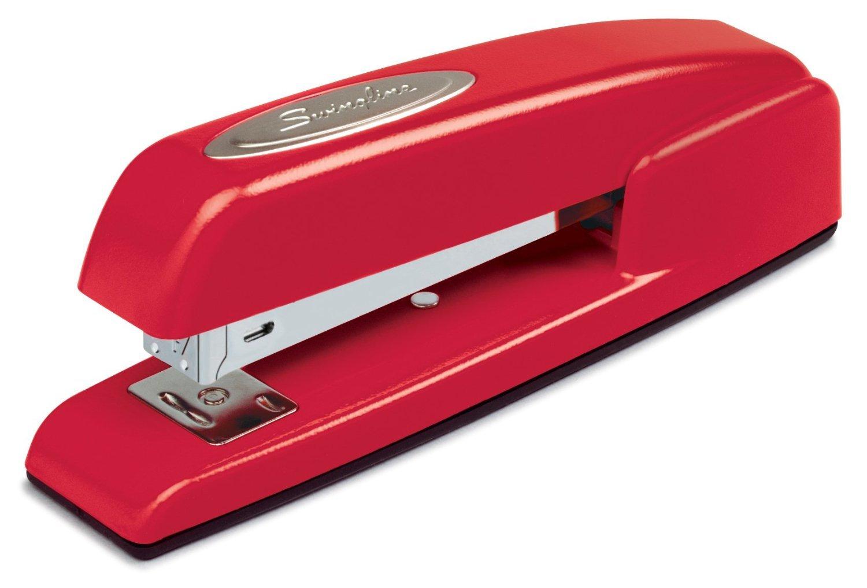 Swingline Staplers, 747, Business, Manual, 25 Sheet Capacity, Desktop, Rio Red, Case of 6