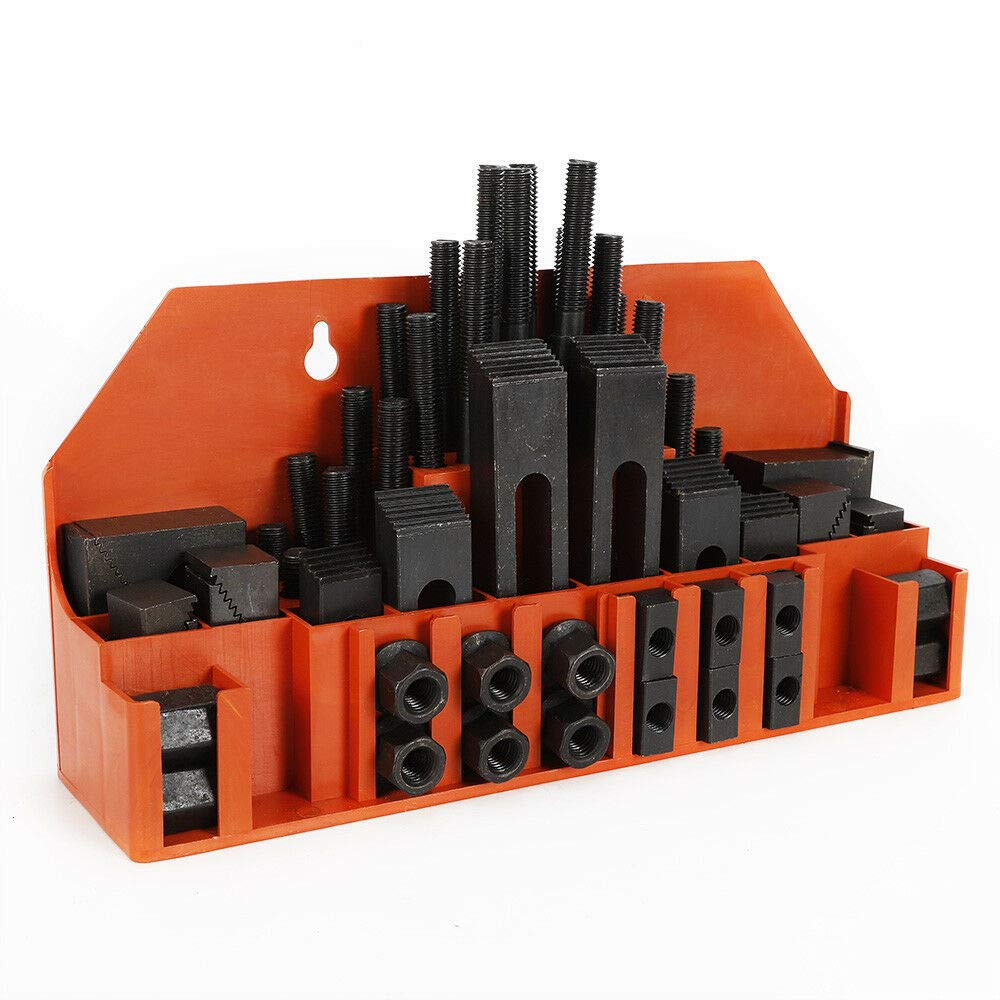 RanBB 58pcs Clamping Tools Set, Clamping kits for Metal Milling Drilling M12 Studs Slot Step Block Clamp by RanBB