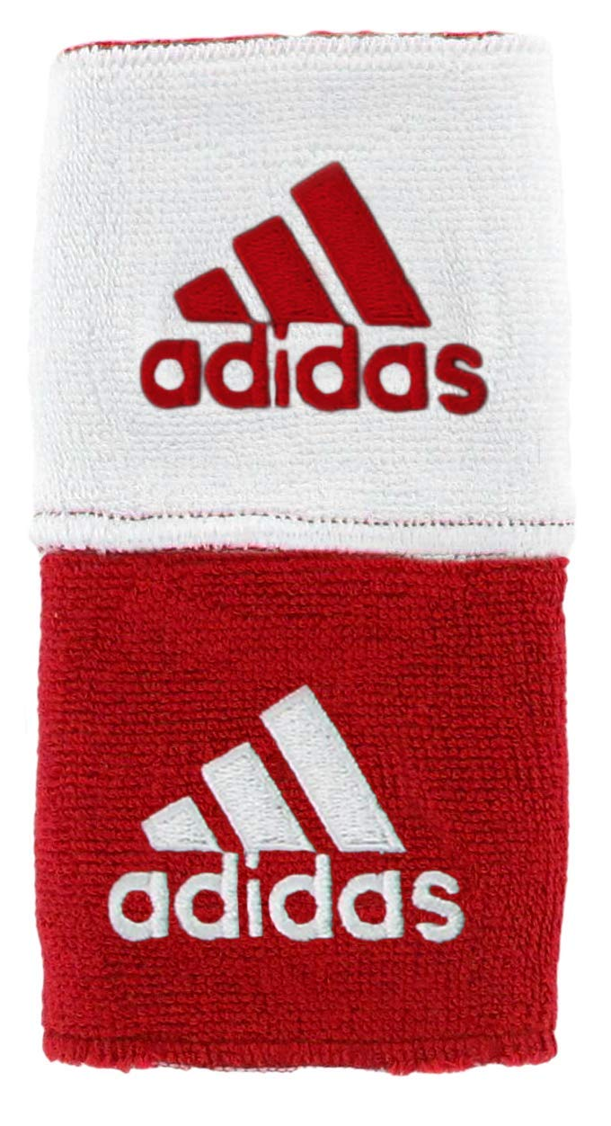 adidas Unisex Interval Reversible Wristband, Team Power Red/White White/Team Power Red, ONE SIZE by adidas