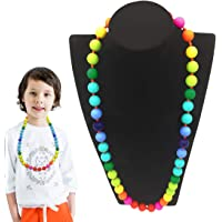 Kalevel Baby Teething Necklace Chew Beads Necklace Silicone Sensory Chewing Necklaces Jewelry for Babies Girls Boys Mom…