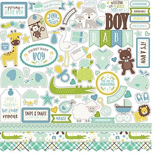 Sweet Baby Boy Echo Park Element Sticker Sheet Baby Boy Embellishment