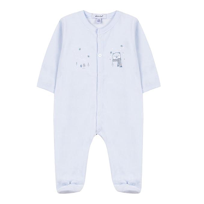 Absorba Boutique Pyjamas Bleu, Pijama para Bebés, Azul Ciel 41, Recién Nacido (