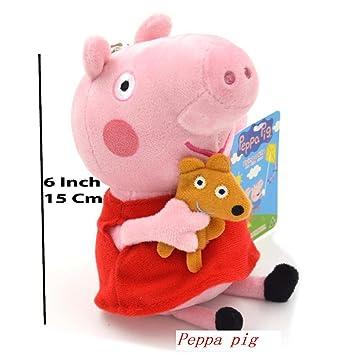amazon com peppa pig characters original soft toys daddy mummy