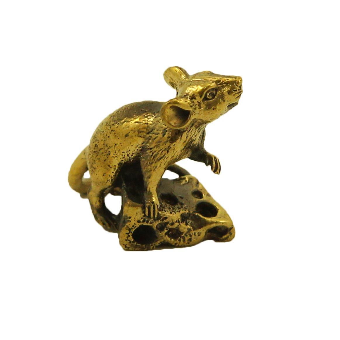 CTOC Rat Bronze small Statuette Handmade Figurine Souvenir