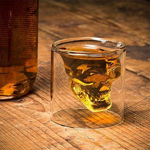 /Juego de 4/vasos con forma calavera/ Whisky /Chupito para licor Vodka Shop Story/ etc.