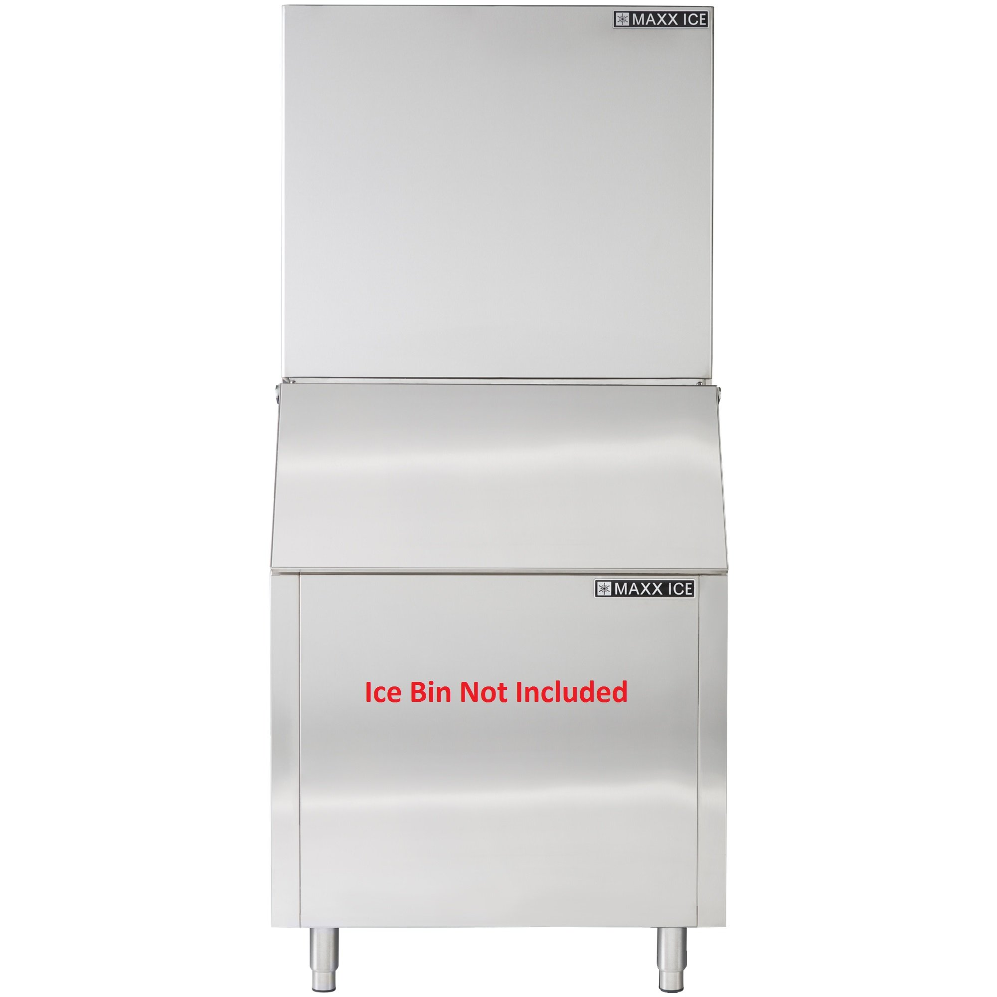 Maxx Ice MIM1000X Modular 1000 Pound Stainless Steel Commercial Clear Ice Maker Cuber - REFURBISHED