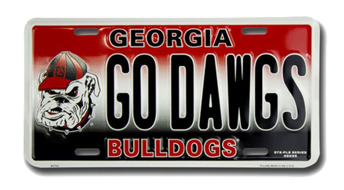 HangTime GO DAWGS Georgia Novelty License Plate Tag City Auto tag